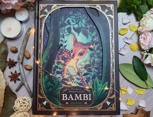 Bambi de Felix Salten, illustré par Benjamin Lacombe aux éditions Albin Michel